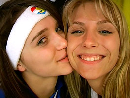 Lesbian fun in the dressing room
