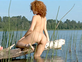 Melissa goes skinny dipping