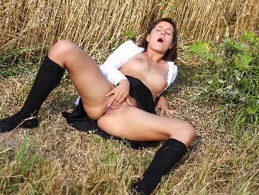 Masturbating in a field of wheat