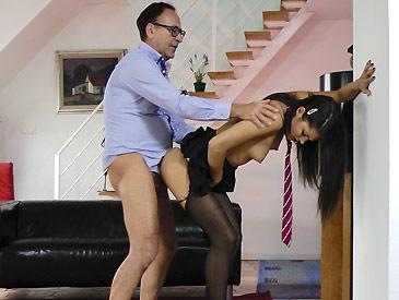 Sexy Spanish Schoolgirl!