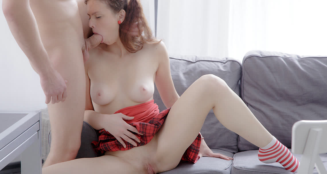 Naughty student fucked by her roommate