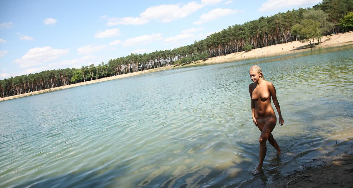 Sara skinny dipping in public