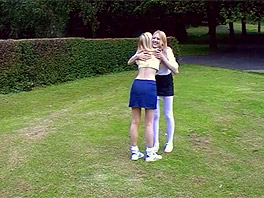 Lesbian encounter in the park