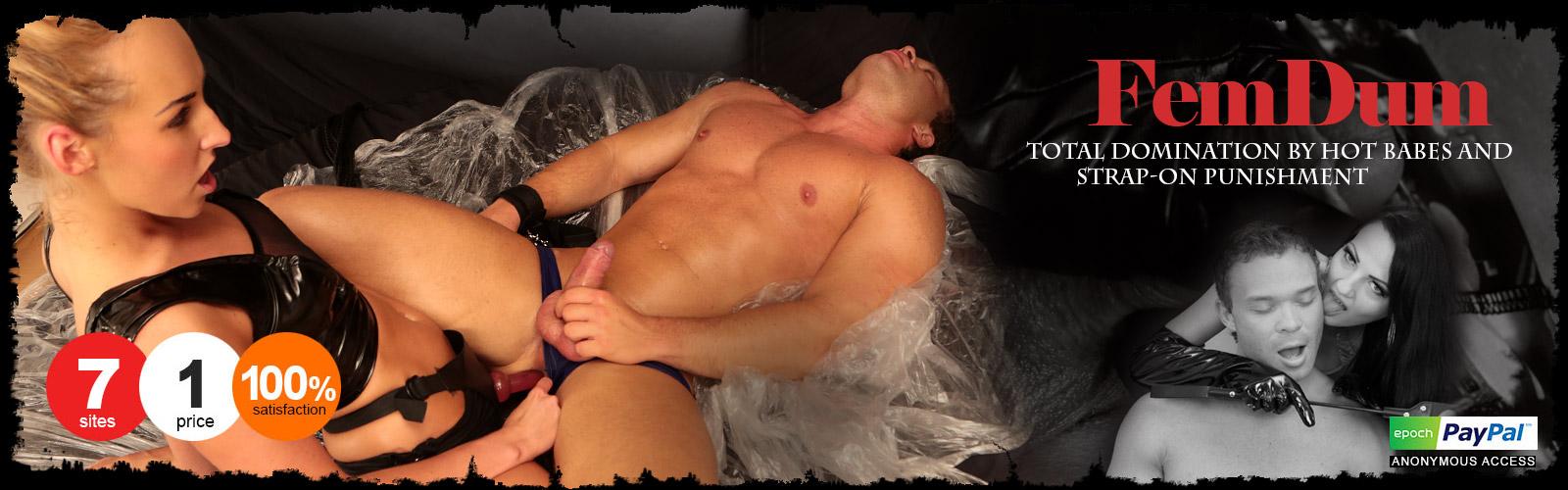 femdom strap-on punishment